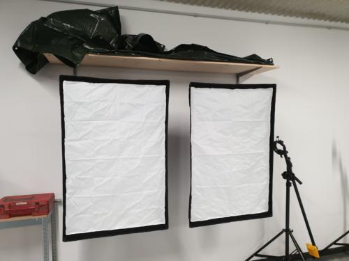 Softbox-Wand-Haltung fertig