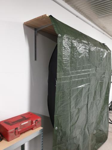 Softbox-Wand-Haltung mit Abdeckung