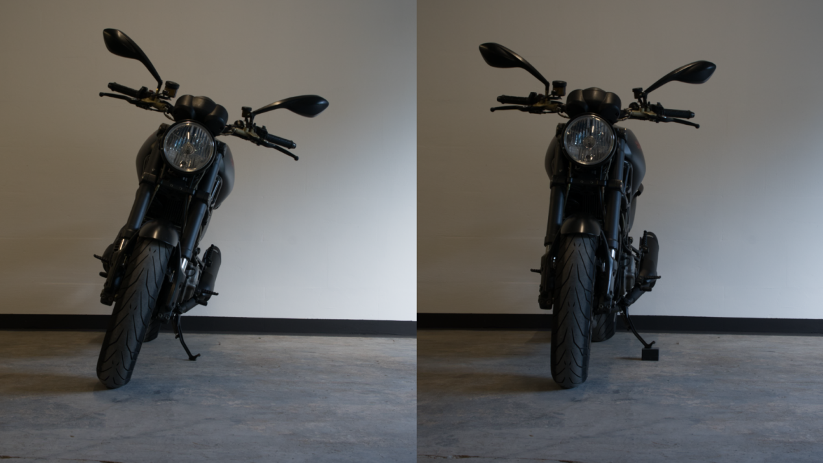 Motorrad ohne Hauptständer gerade hinstellen