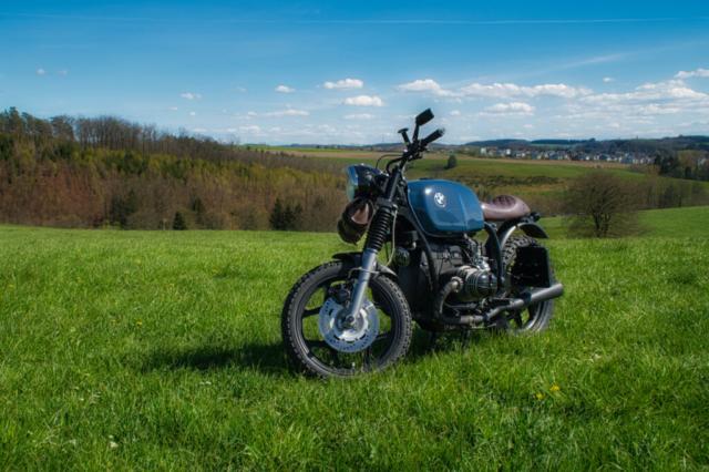 BMW R 80 RT im Grünen (auf einer Wiese)