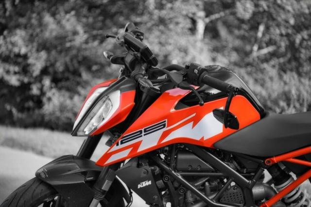 KTM 125 Duke Front sw mit Orange