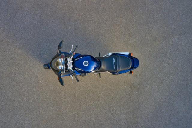 Suzuki Bandit 1200S von oben (Draufsicht)