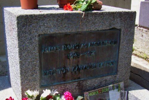 Grabstein von Jim Morrison